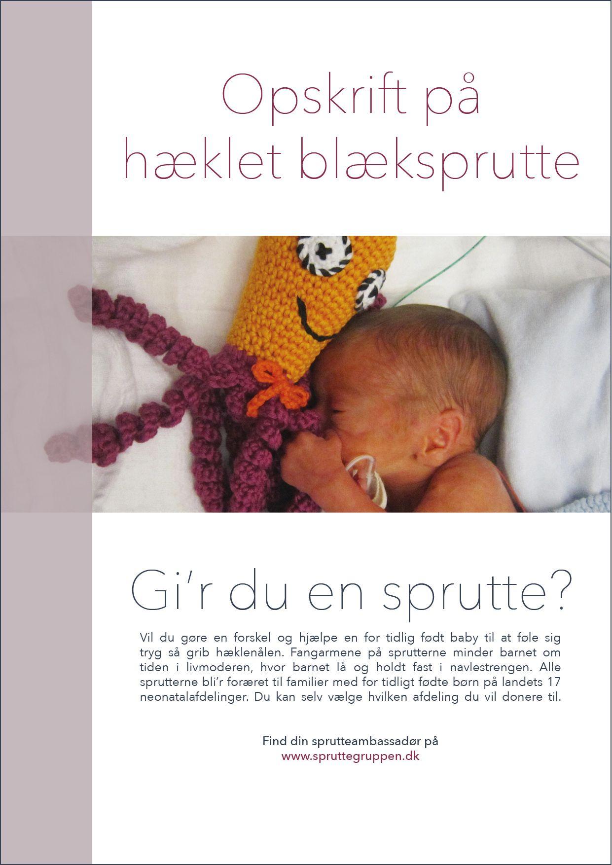 Opskrift på hæklet sprutte | baby | Pinterest