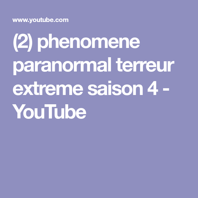 paranormal chaine 23