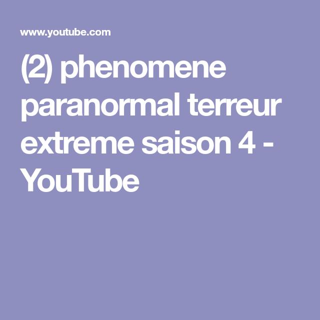 paranormal terreur extreme
