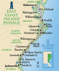 North Carolina Coastal Cities Map | Map cosmictheater
