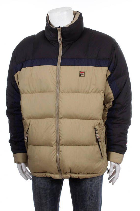 4c2d8394d7ee Vintage 90s Fila Hip Hop Rap Style Goose Down Puffer jacket