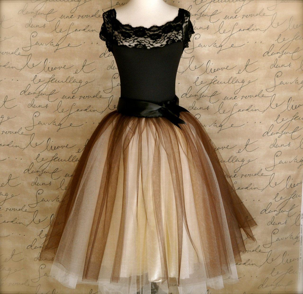 9f33fa0fbe Black and tiffany blue aqua tutu skirt for women. Ballet glamour. Retro  look tulle skirt.