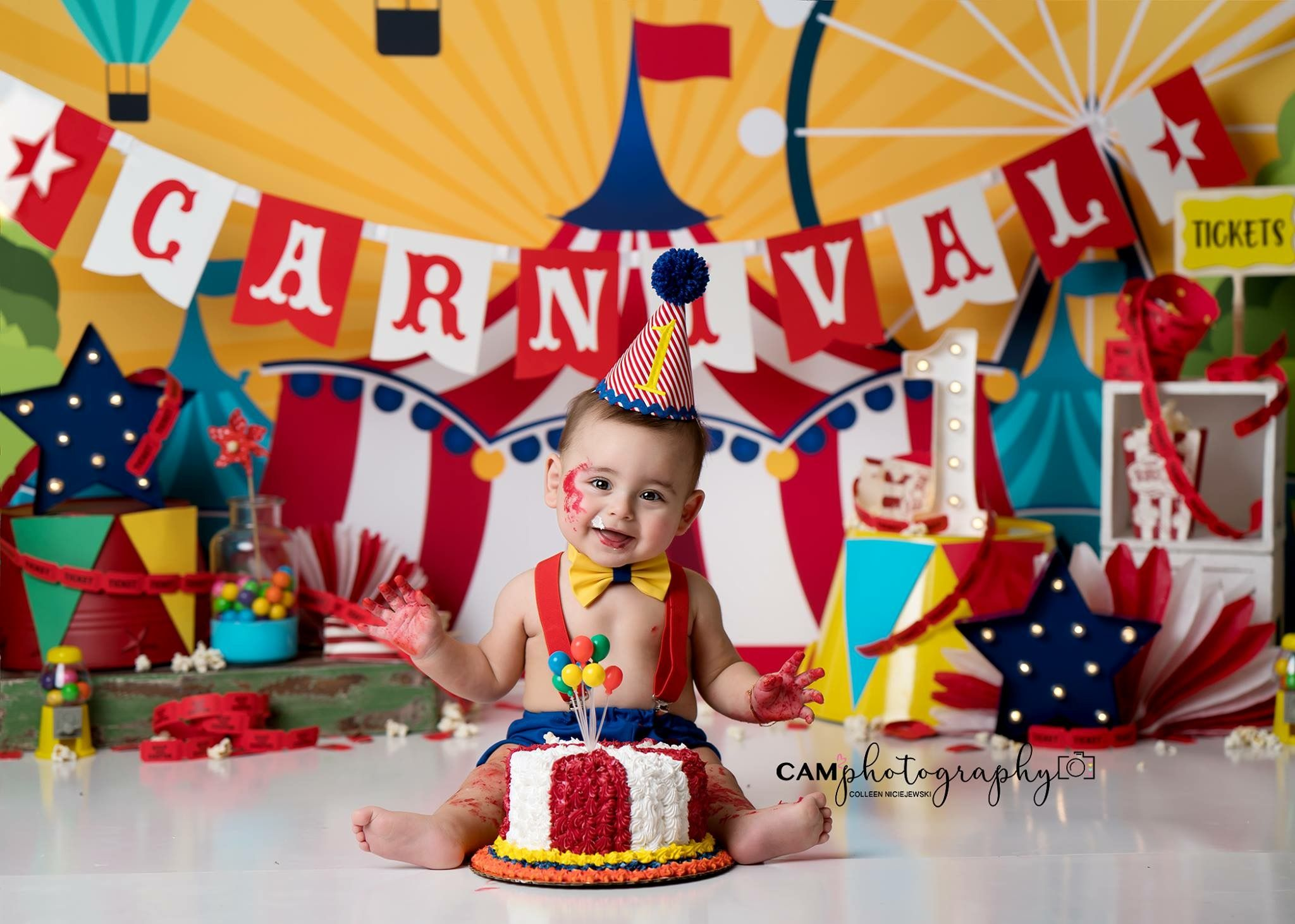 Carnival Party Carnival Birthday First Birthday Carnival