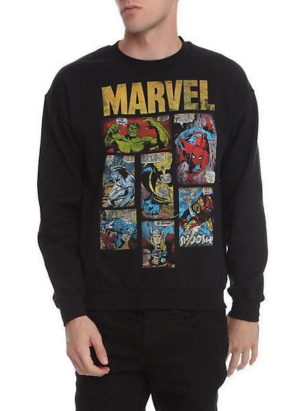 Marvel Comics Crewneck Sweatshirt  a631d06b4