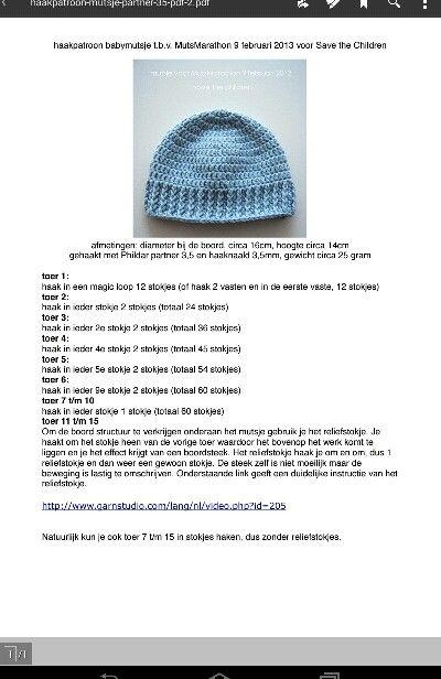 Baby Muts Haken Baby Hats Pinterest Crochet Baby Crochet And Baby