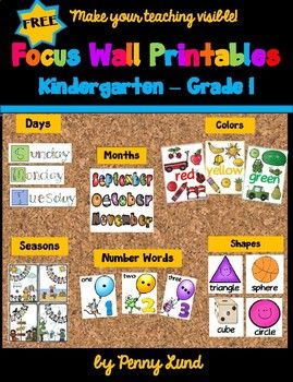 In My Job As A Teacher Coach I Am A Great Proponent Of Classroom Focus Walls I Am Offering Kindergarten Focus Walls Focus Wall Kindergarten Classroom Decor