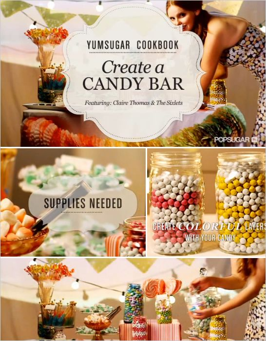 How to make a diy marquee letter sign buffet popcorn bar and bar do it yourself candy buffet solutioingenieria Images