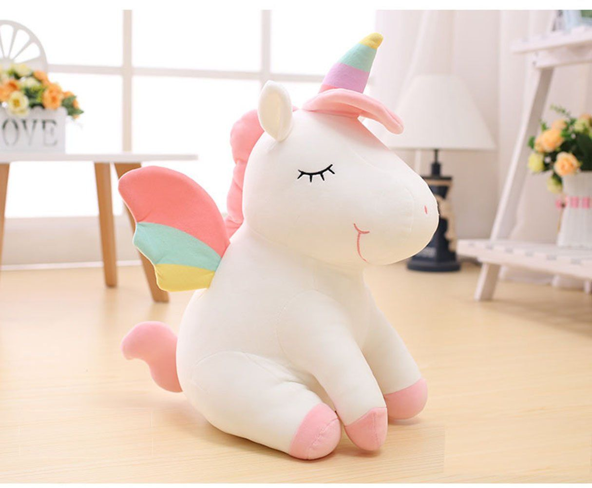 Niu Niu Unicorn Stuffed Animals Super Soft Lovely Rainbow Smile Unicorn Gifts For Girls Plush Toys 14and18 Unicorn Stuffed Animal Unicorn Plush Unicorn Toys [ 1001 x 1215 Pixel ]