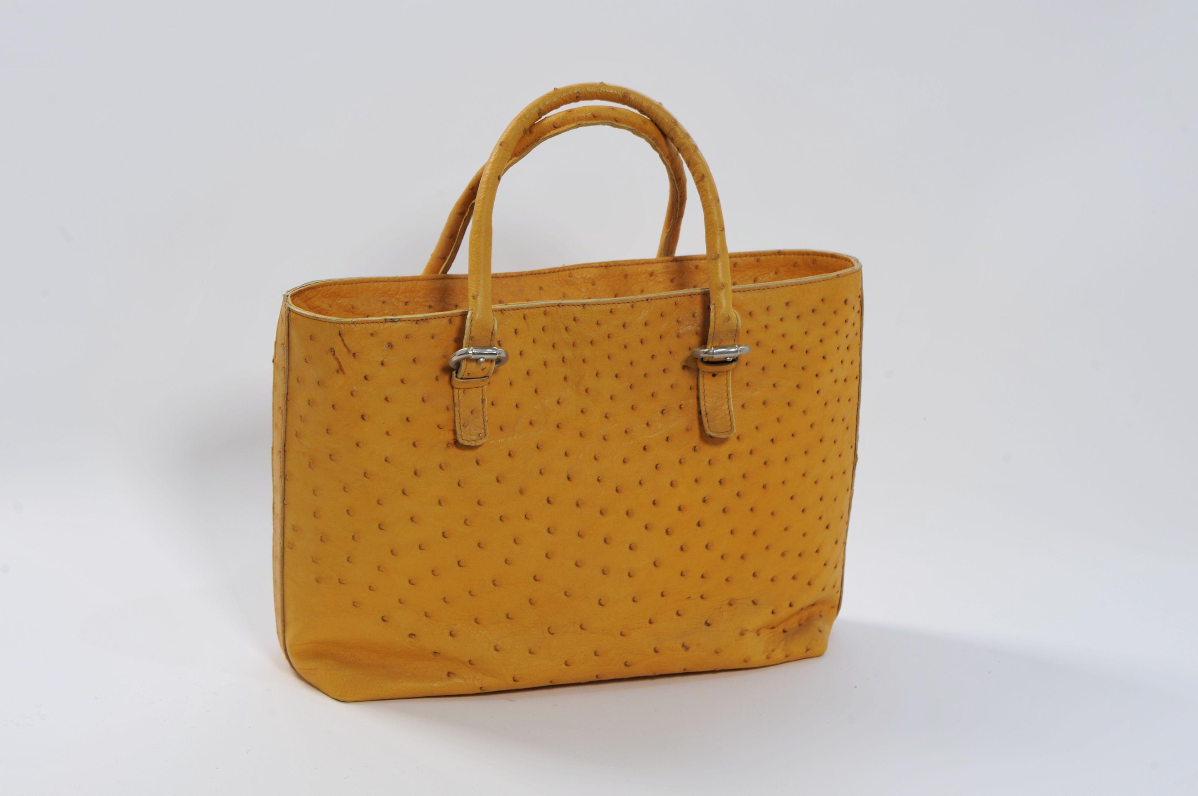a70ecb1cea Era è una borsa di struzzo, fatto a mano. Vera Pelle di Struzzo ...