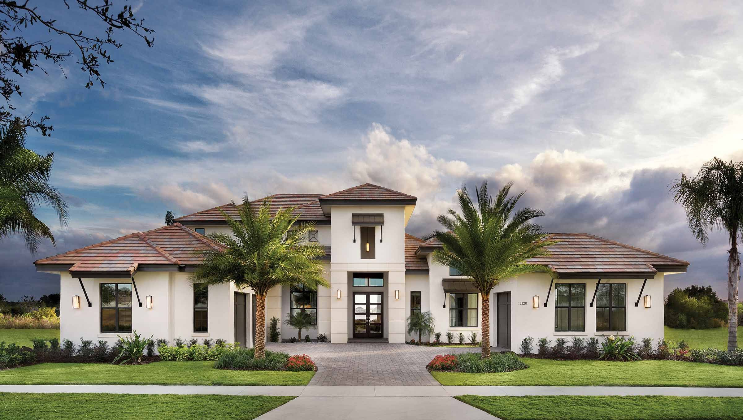 Like the marble stone black trim windows white stucco - How much to stucco exterior of house ...