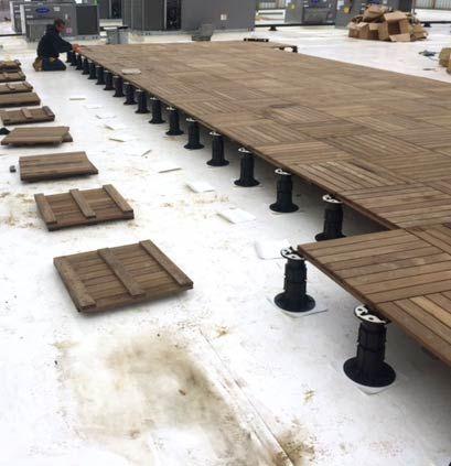 Modular Ipe Decking Tiles For Pedestal Supported Roof Decks