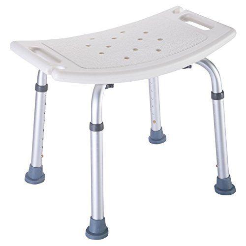 Super Buy 8 Height Adjustable Shower Chair Medical Bath Bench Bathtub Stool  Seat White New *