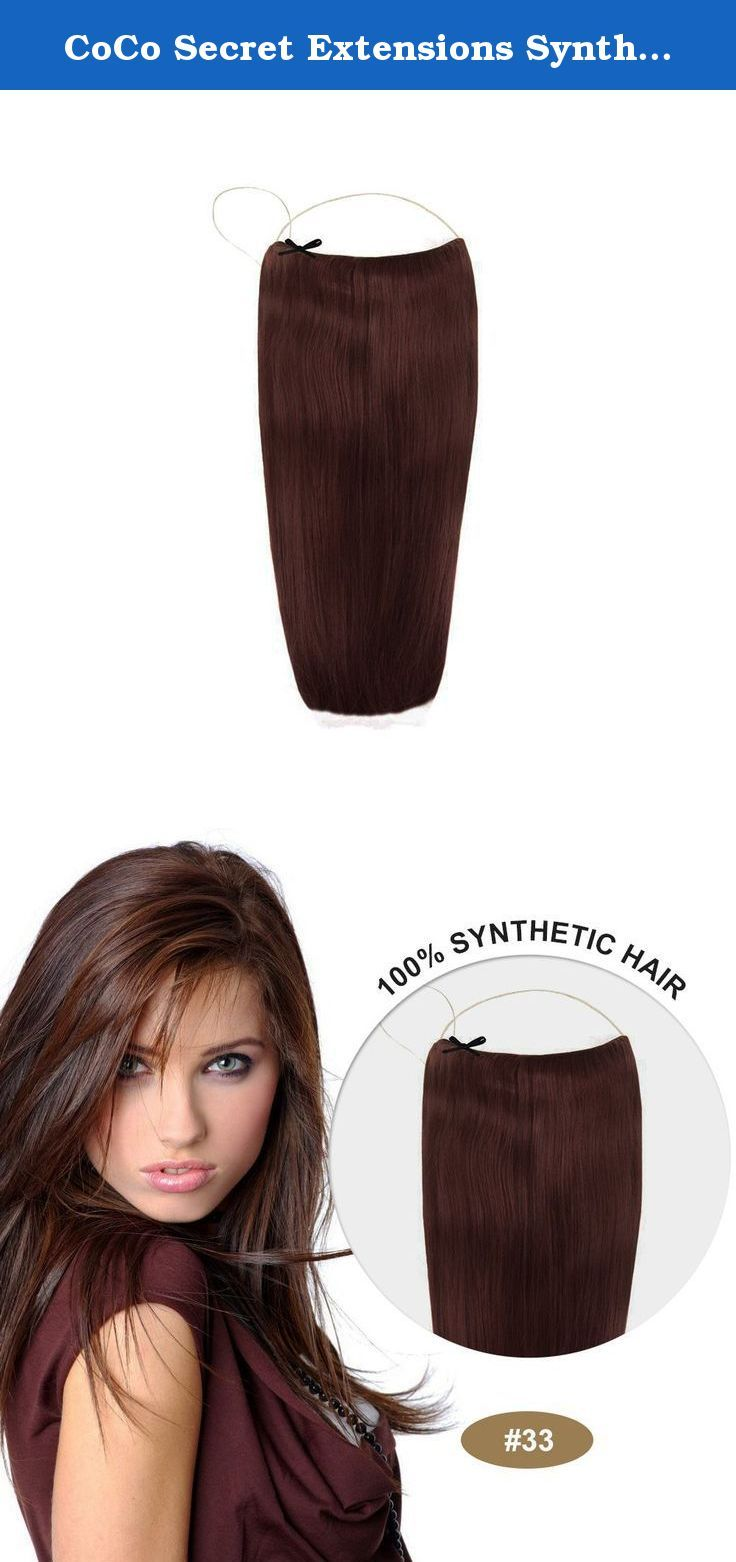 Coco Secret Extensions Synthetic Hair Extensions Straight Dark