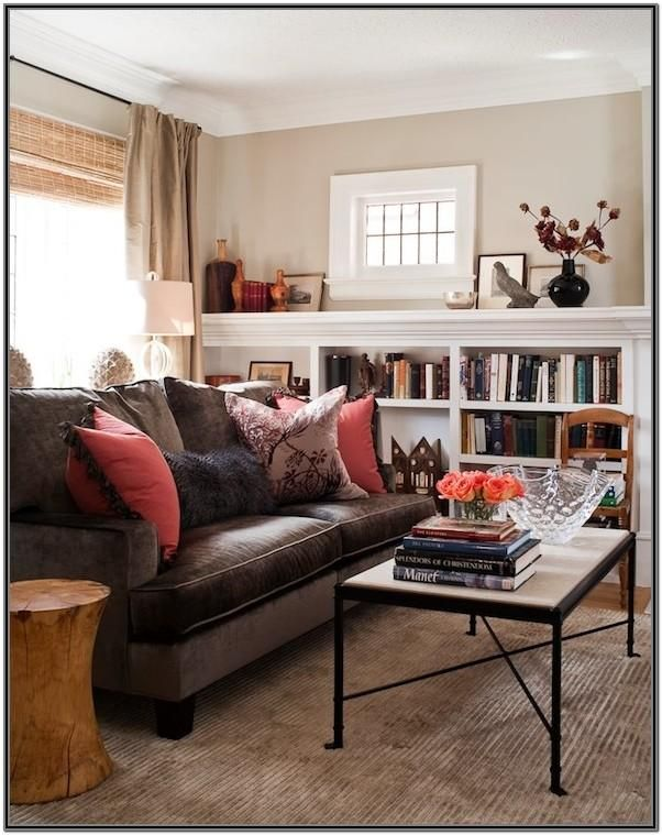 Chocolate Brown Couches Living Room Ideas by William Boyd ...