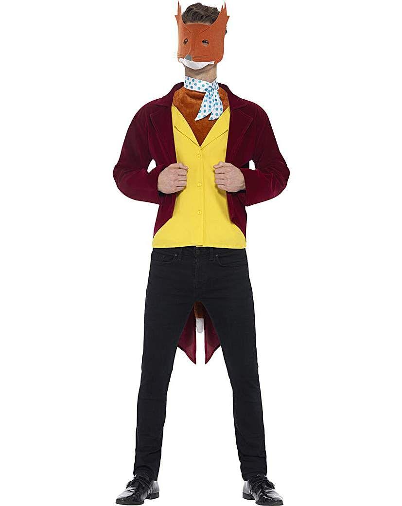 FANTASTIC MR FOX KIDS FANCY DRESS COSTUME BOYS GIRLS JUMPSUIT OUTFIT WITH HOOD
