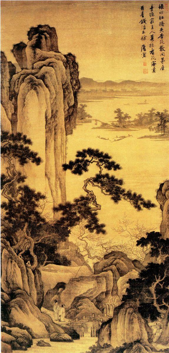 Tang Yinu0027s Landscape | Chinese Painting | China Online Museum | ART |  Pinterest | Japanische Kunst, Chinesisch Und Japanische