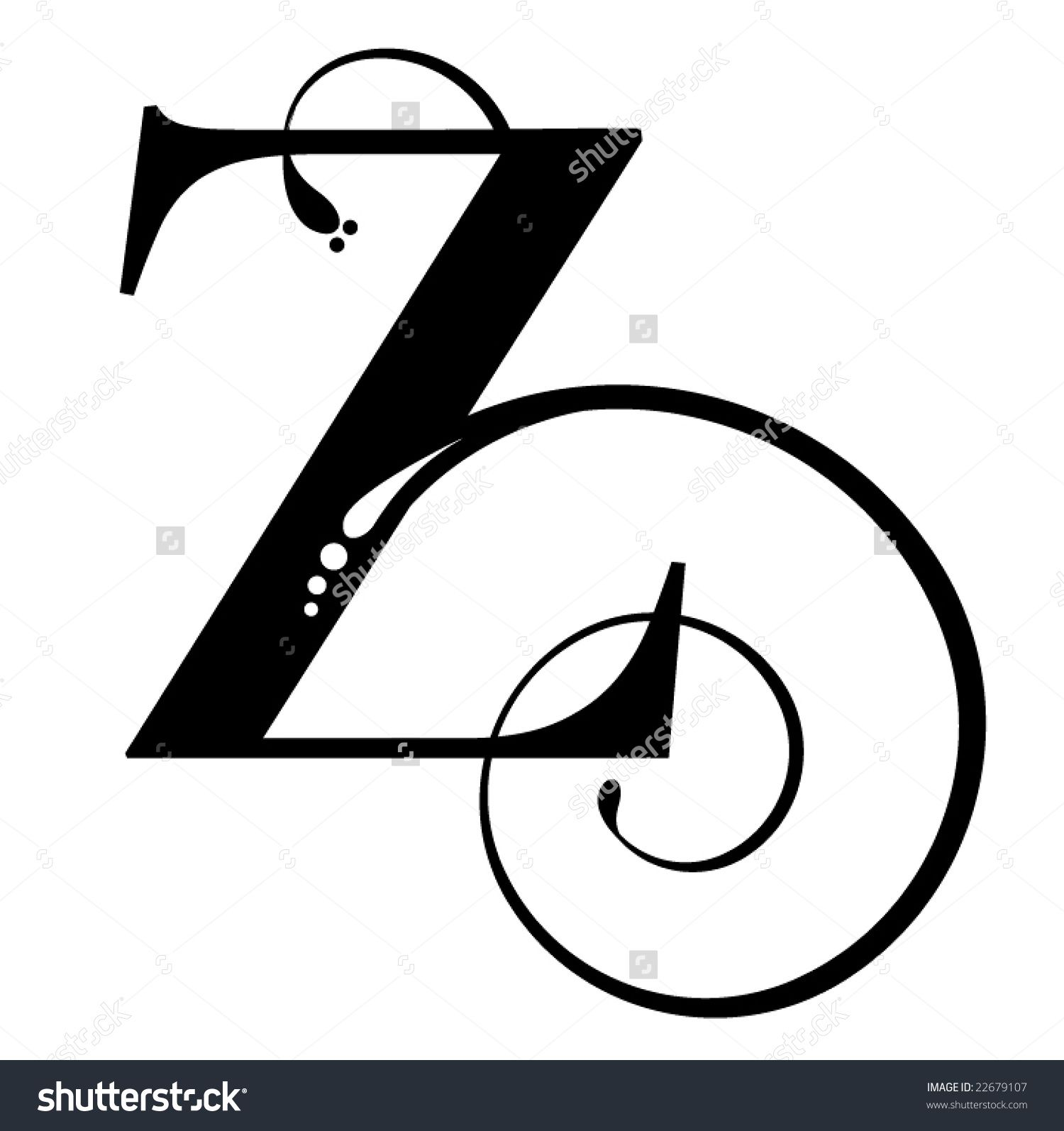 The Letter Z In Script