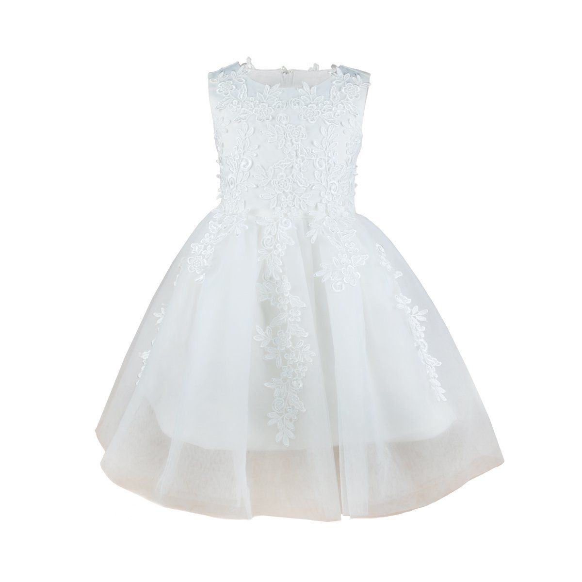 Girls Princess Flower Lace Dress Wedding Party White Gown Bridesmaid Tulle Skirt 3t White Em Wedding Dresses Celebrity Wedding Dresses Wedding Dresses Blush [ 1200 x 1200 Pixel ]