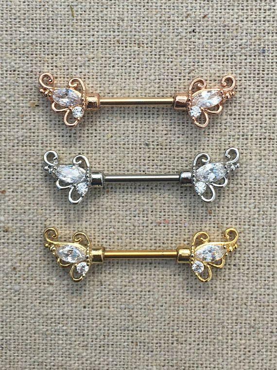 Nipple Barbell Nipple Jewelry Rose Gold Nipple Ring Nipple Gift
