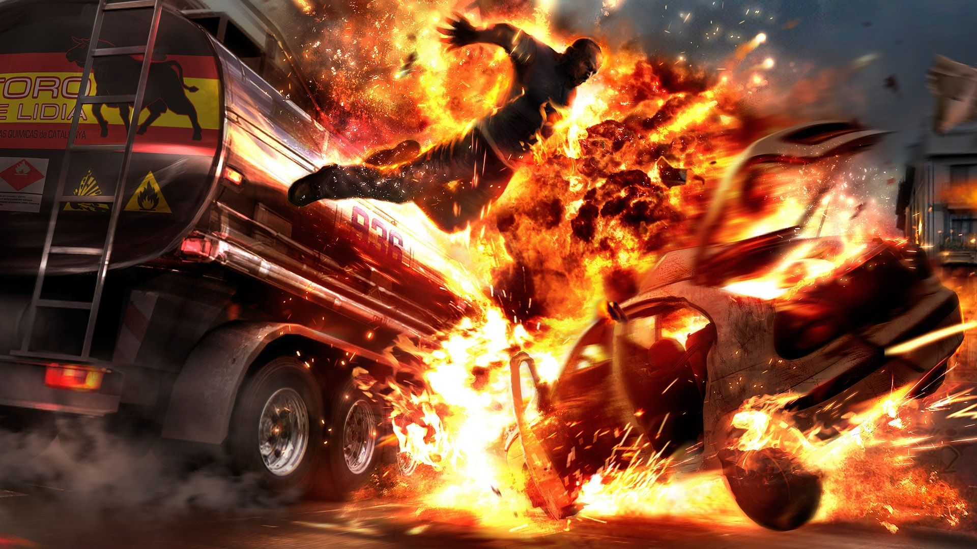 Download Dodge Trucks Trophy Truck Explosion 725593 And Hq Pictures Megahdwall Com Car Games New Car Games Game Scene