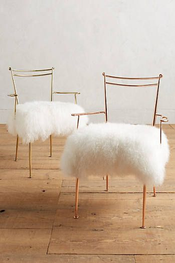 Exceptionnel Shag Puff Dressing Chair