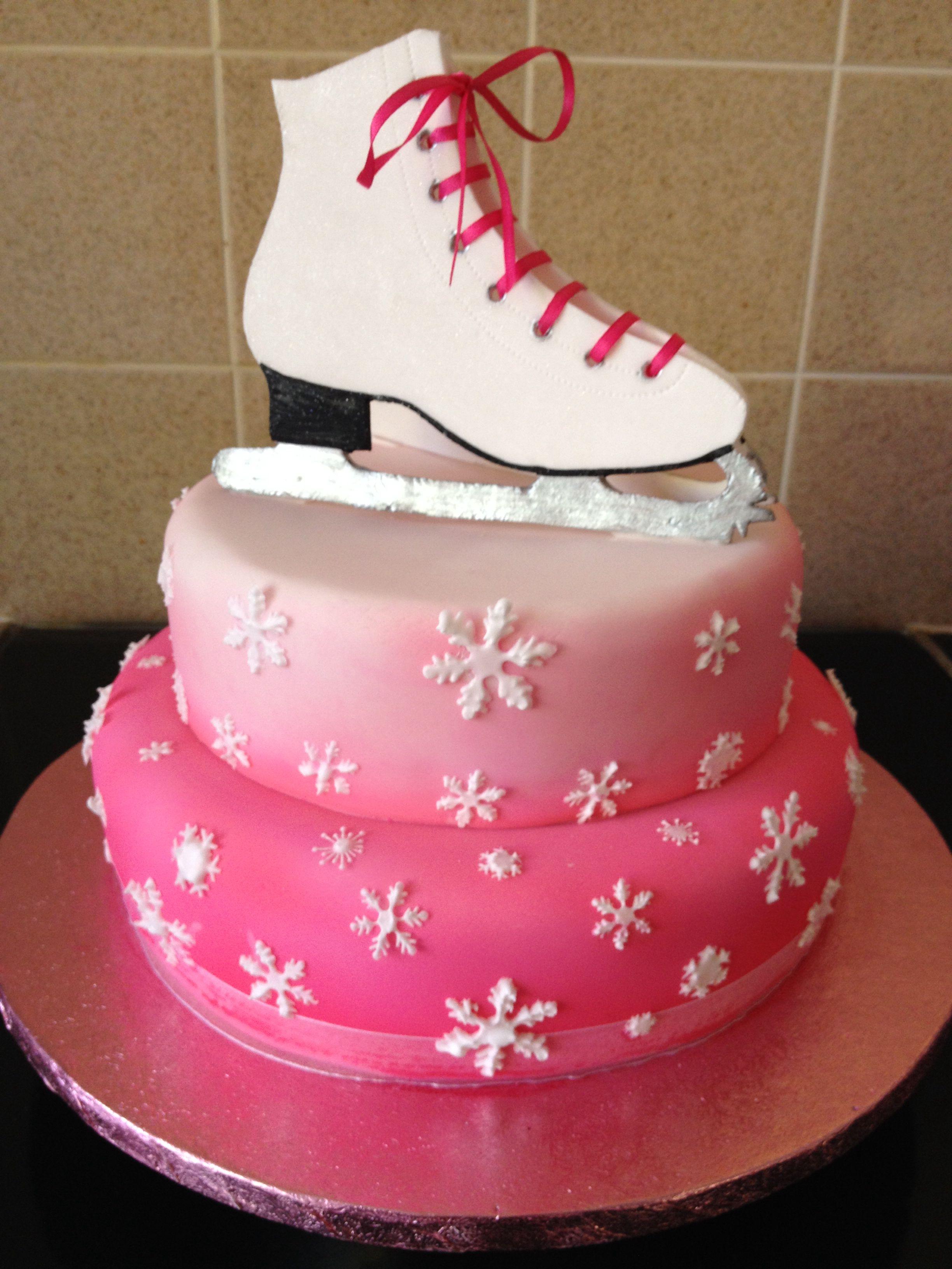 Ice Skating Cake Ice Skating Cake Hockey Birthday Cake Skate