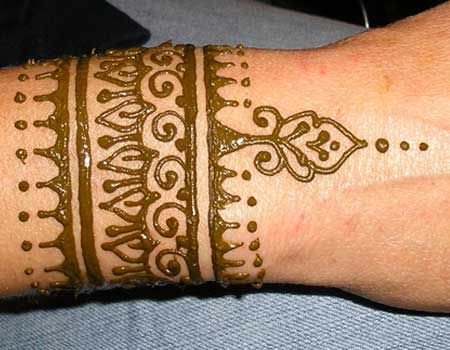 Mehndi Tattoo Cuff : Henna arm cuff body art hennas and
