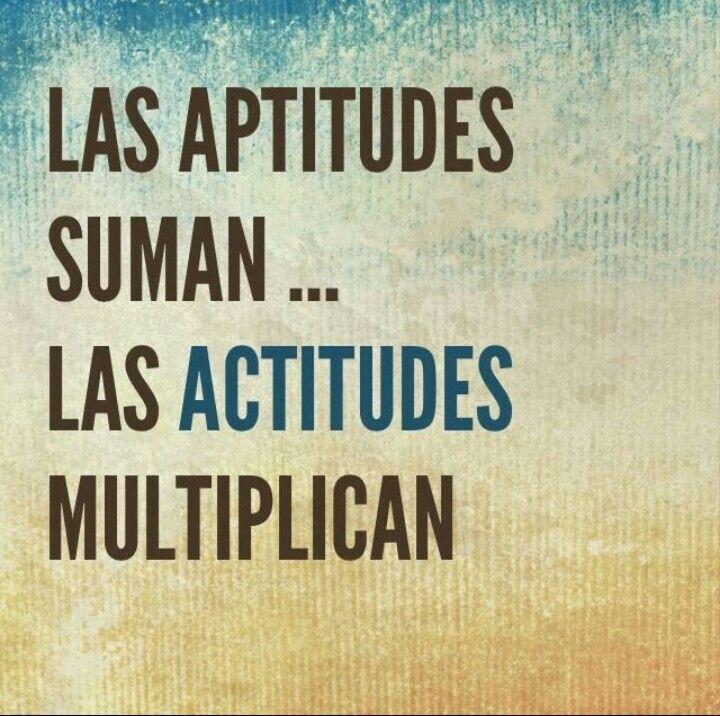 Actitud Y Aptitud Frases Motivacion Trabajo Motivacion