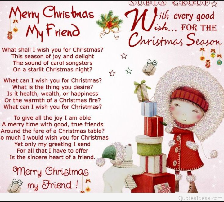 Merry Christmas 2017 Wishes   Christmas Wishes Quotes For Friends