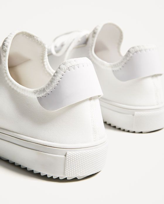 Image 5 of WHITE SNEAKERS WITH TRACK SOLE from Zara | Look