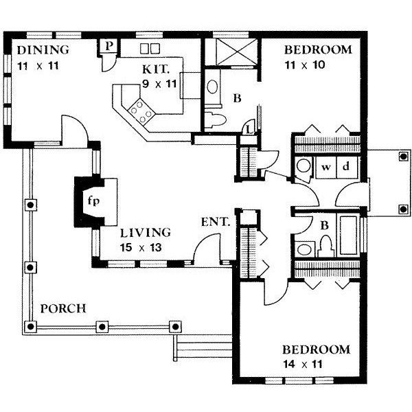 House Plan 140 131 Liked On Polyvore Country Style House Plans Tiny House Plans Cottage House Plans