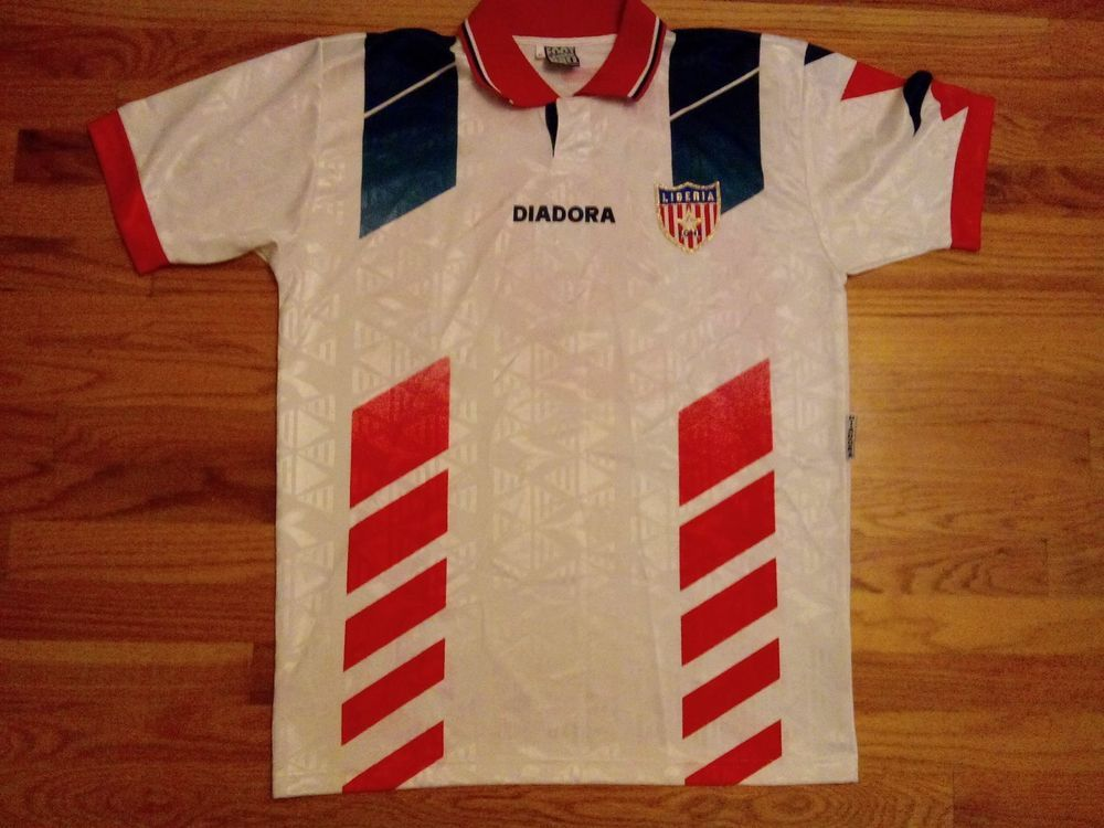 cc16e772e7b Official Liberia Soccer Jersey Football Shirt XL Very Rare -George Weah  National #Diadora #Liberia
