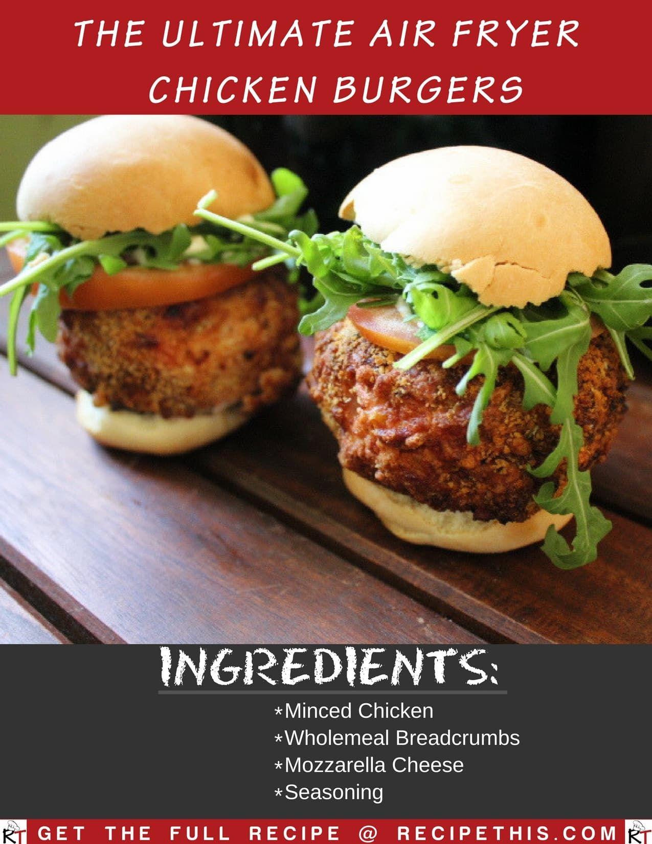 Air Fryer Chicken Burgers Recipe Air fryer healthy