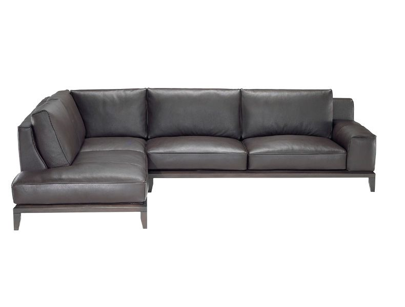 Natuzzi Grey Couch Home Furniture Leather Seating