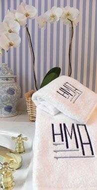 South Shore Decorating Blog Weekend Roomspiration Linens And - Monogrammed bath towels for small bathroom ideas