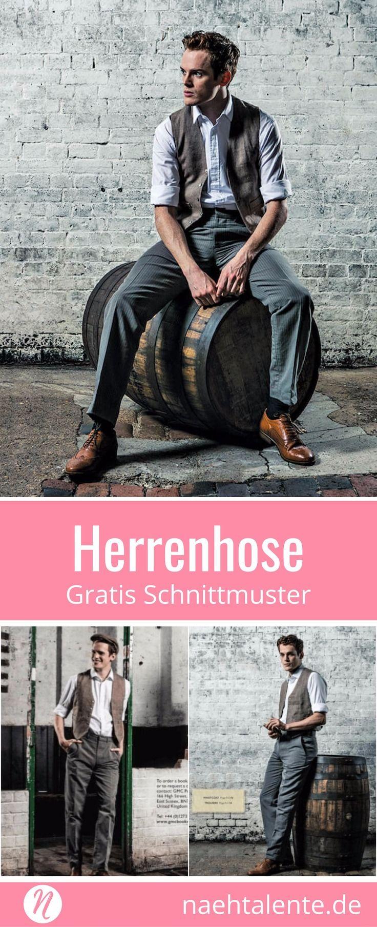 Klassische Herrenhose | Herren hosen, Gratis schnittmuster und Trousers