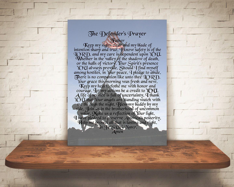 Memorial day poems veterans poems prayers - Printable Marine Corps Gift Defender S Prayer Art Print Iwo Jima Memorial Day