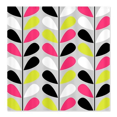Colorful Retro Shower Curtain