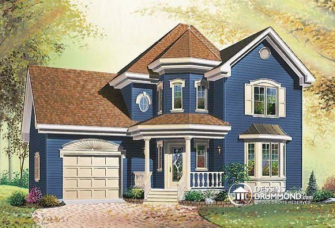 W2459 - Modèle 2 étages offrant 3 chambres, grand garage et suite - les meilleurs plans de maison