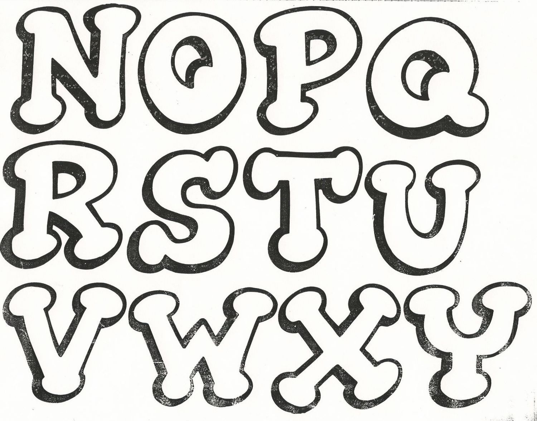 Moldes de letras para feliz cumplea os 2 atividades pr - Letras decorativas pared ...
