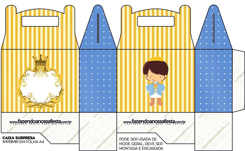 Caixa Principe Moreno Festa Infantil Pequeno Principe Convite