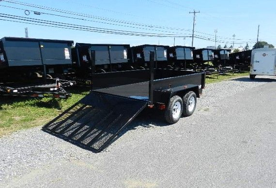 Bri Mar 6 X 10 Dump Trailer With Landscape Ramp Gate Dump Trailers Trailer Ramps Trailers For Sale