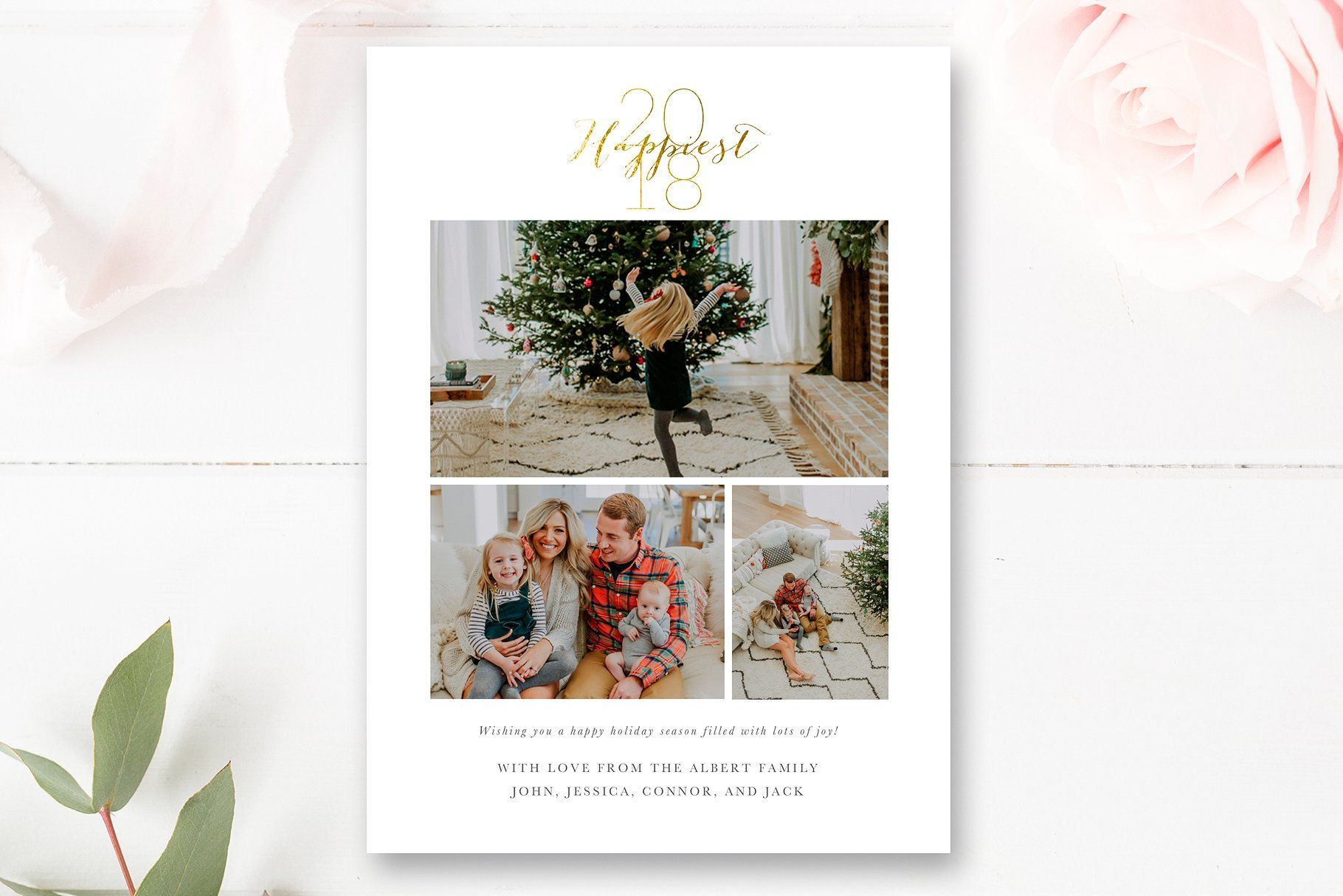 New Years Card Template Photoshop Template Design Card Template New Year Card