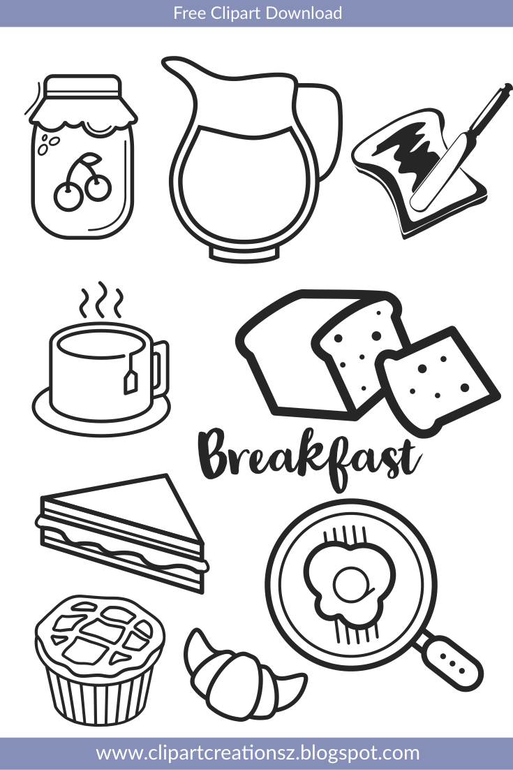 Pin By Copper Creations On Free Cliparts For Teachers Food Coloring Pages Breakfast Recipes Group Meals