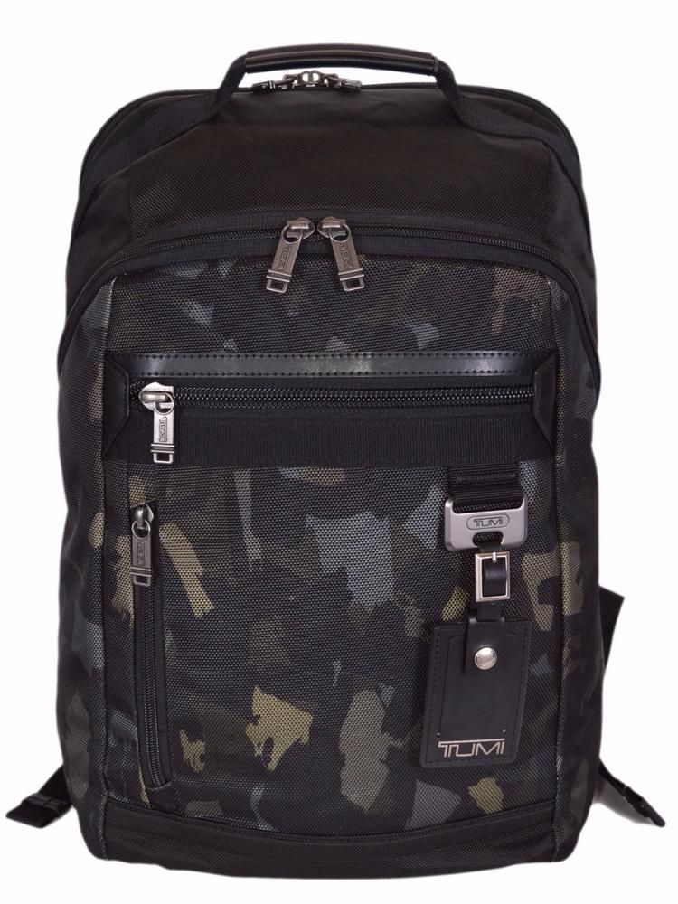 f3149c649b4 New Tumi 69392DCMO Bertona Camouflage Laptop Rucksack Backpack Bag  Tumi   Backpack
