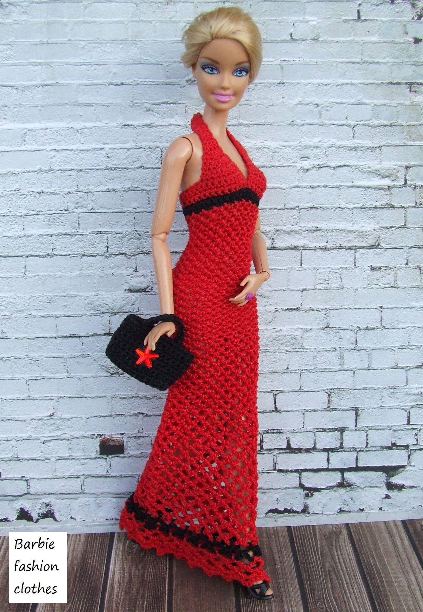Pin von Louise Foley auf crochet   Pinterest   Barbie kleider ...
