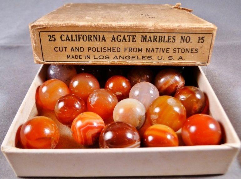 Original Box Set of California Agates