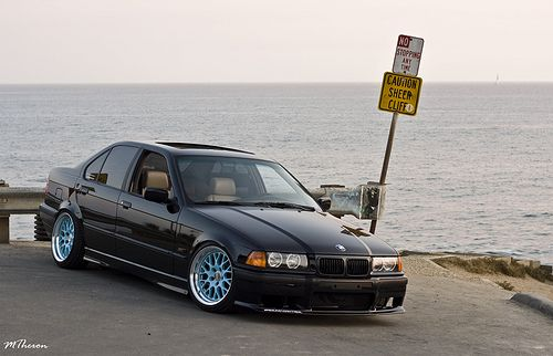 Black E36 Sedan On Some Fikse Fm10 Wheels Bmw Bmw E36 Bmw Cars