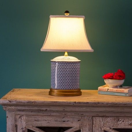 Contemporary ceramic table lamp a contemporary and pretty blue and contemporary ceramic table lamp a contemporary and pretty blue and white chinese ceramic table lamp with lined lamp shade the shade is topped with a mozeypictures Images