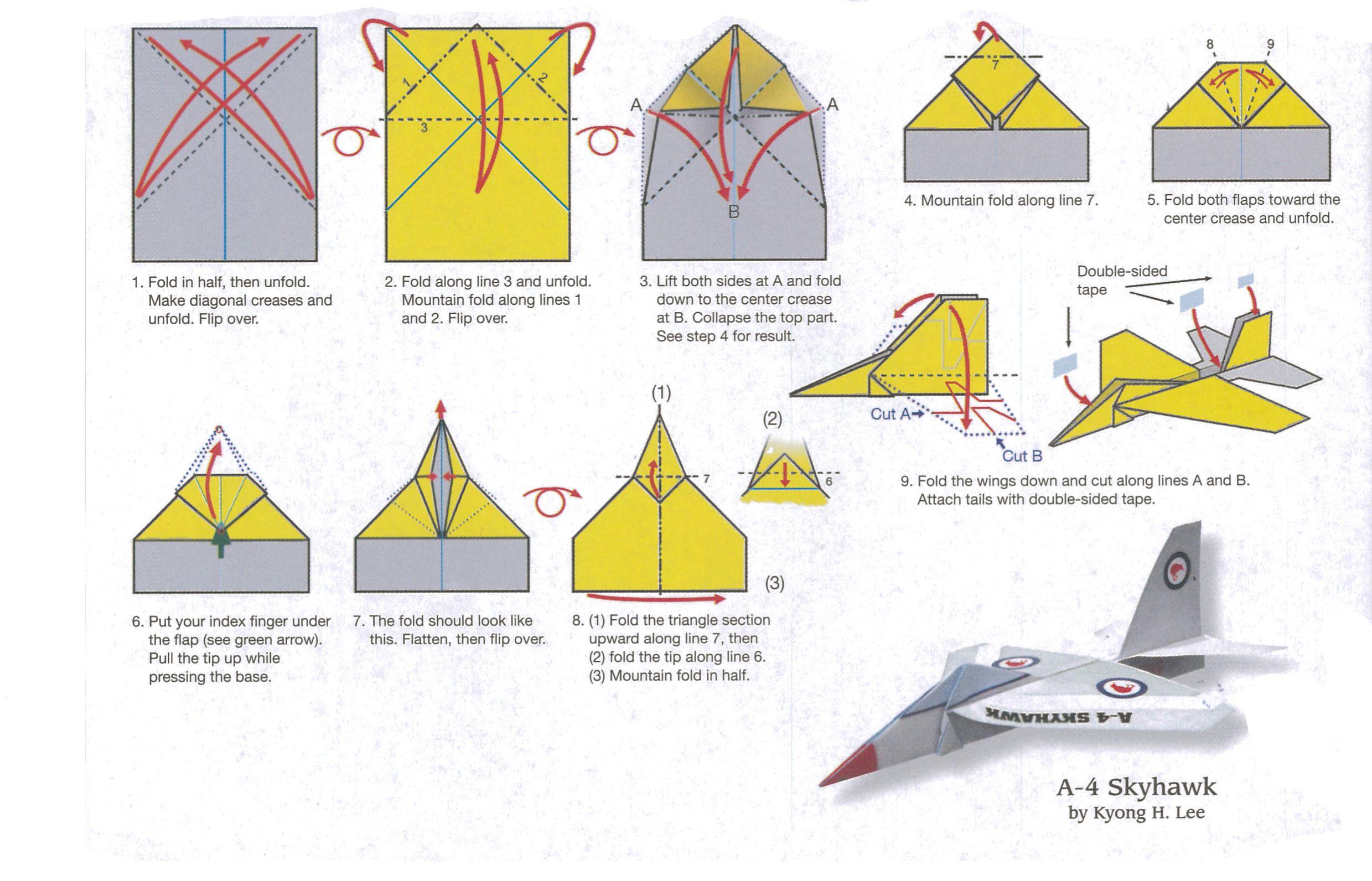 best paper plane folding instructions - Google keresés ... - photo#31